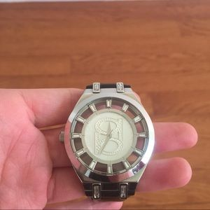 BeBe Black Patent Leather Watch